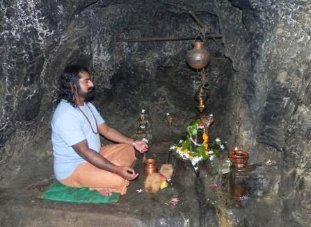 In Vashishtha Cave - photo with flash