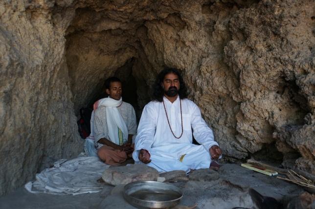 Mohanji meditating in a Arundhati cave near Vasistha Gufa RIshikesh