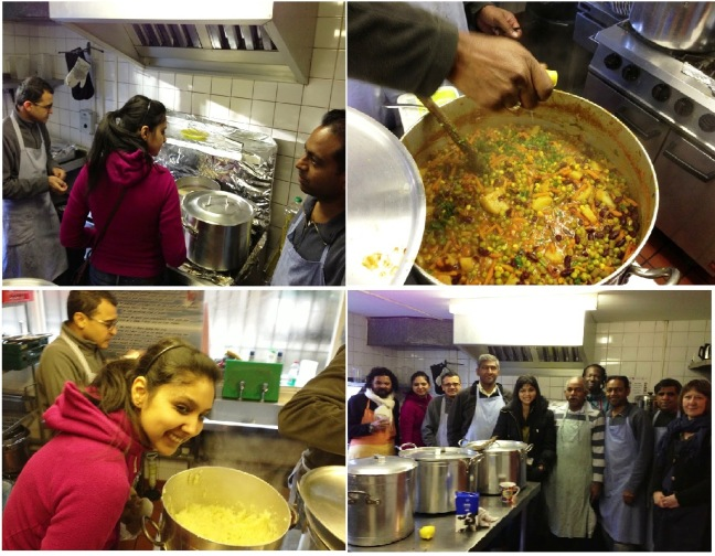 BTW Family in UK.... peeled 40kgs of potatoes, made curry, served two Mother Teressa homes and people on street, those who could not help in cooking gave raw material, they all meditated too.... so many things are possible in a day... just needs a conviction and love..