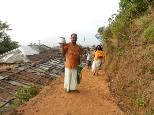Walk to the Sarvajna Peetam