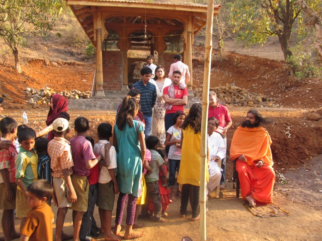 """Begining of project- """"Health and Nureition"""" in the village of Datta Tapovan"""