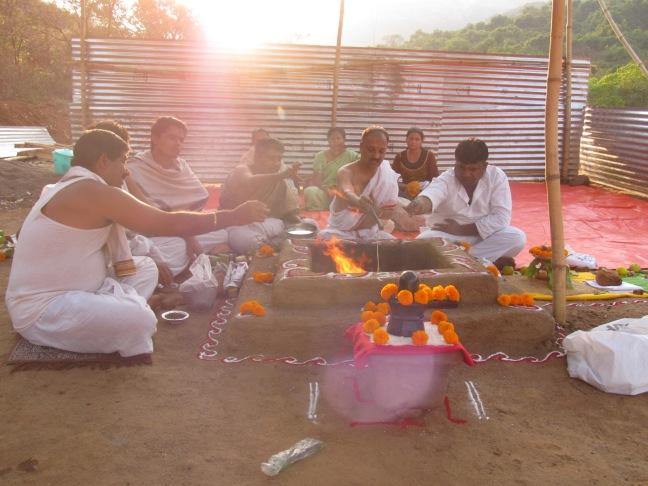 Mahamrityunjaya homa at Datta Tapovan
