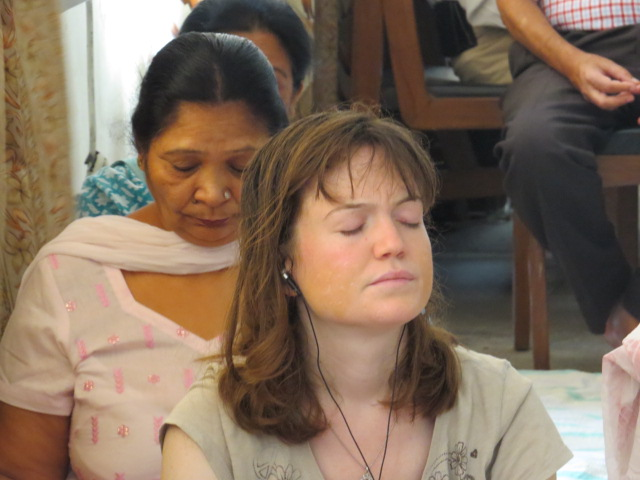 Susan, the only one following the meditation in English
