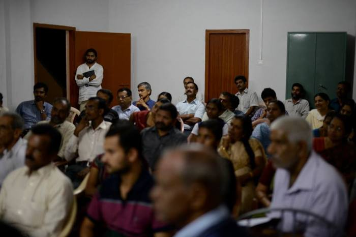 Audience for book release Malayalam translation of 'in search of the precious' .