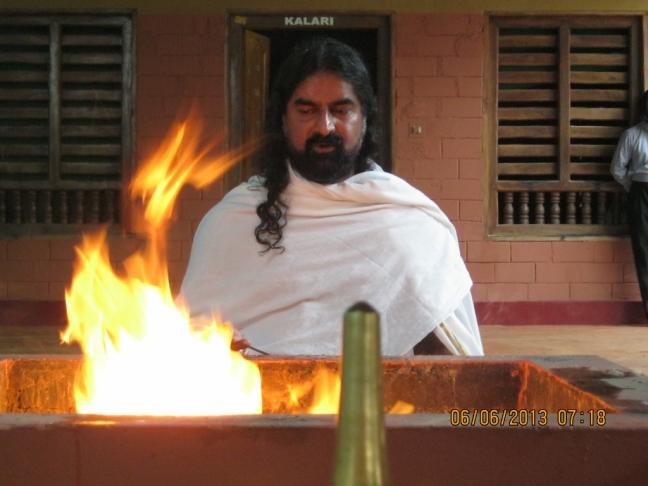 Homa at Ayurveda Yoga Villa, Palvelicham