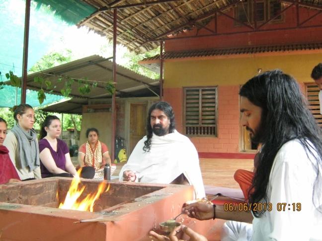 Homa at Ayurveda Yoga Villa ,Palvelicham