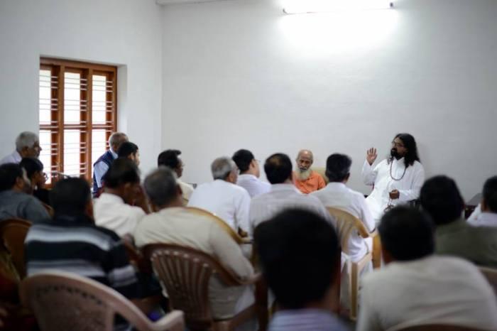 Addressing a spiritual gathering at Kalpetta