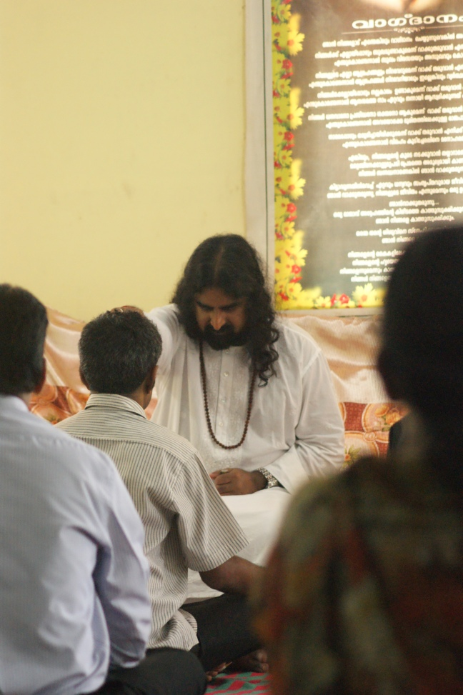 Mohanji during the Power of Purity meditation and satsang in Meenangdadi
