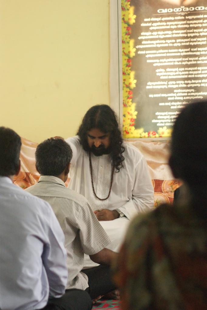 Mohanji during the Power of Purity meditation and satsang in Meenangdadi