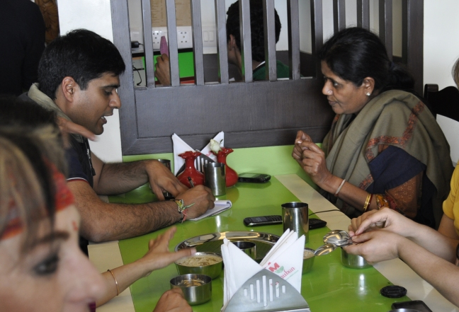 Shashank and Nandita making a plan. Nandita is going to be a key person for vibrionics in India.
