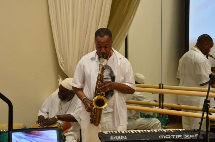 The event beautifully and gracefully ended with musing, song and saxophone