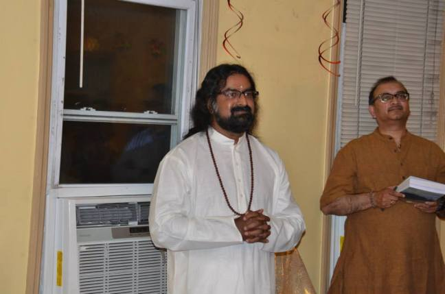 Mohanji in New York, presenting the book about Kailash Yatra