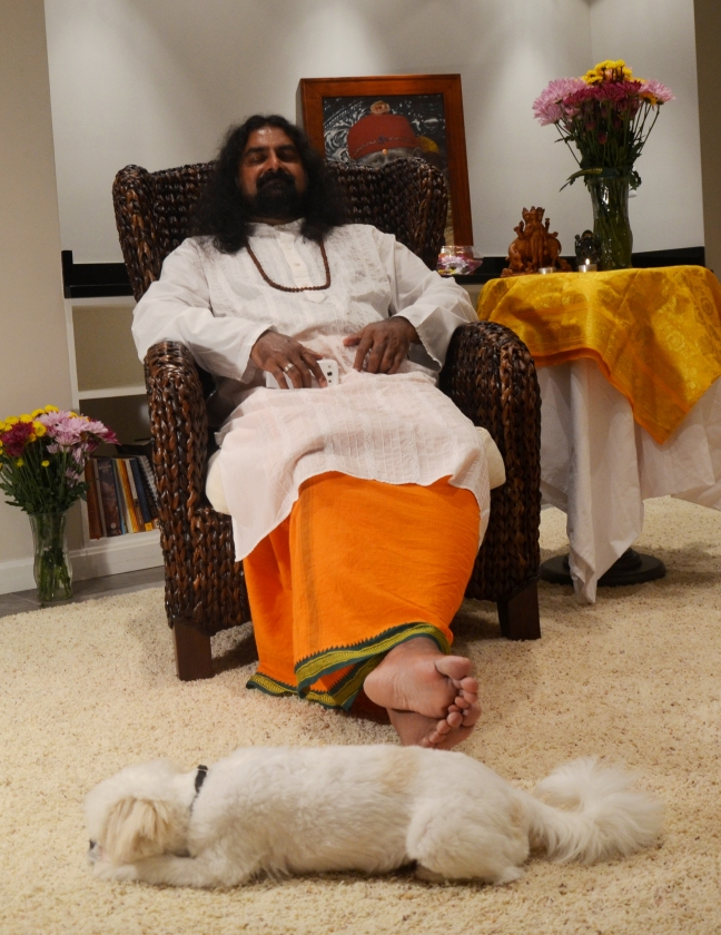 Prostrated right at the lotus feet :)