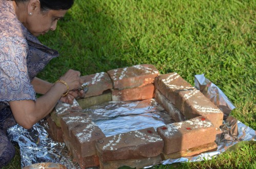 Fire ritual preparations - Homa with Mohanji