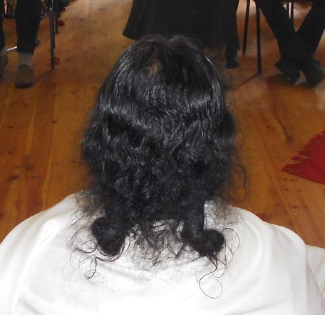 A last look at Shiva's dread-locks before they were removed. Clearly not the normal dreads that are seen everywhere!