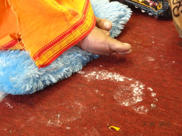 Mohanji's foot next to Baba's foot imprint - Sai's symbolic message...