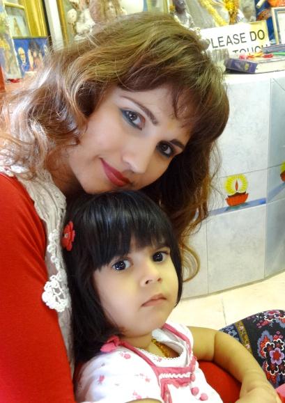 Mila and mama at the Sai Centre in Durban