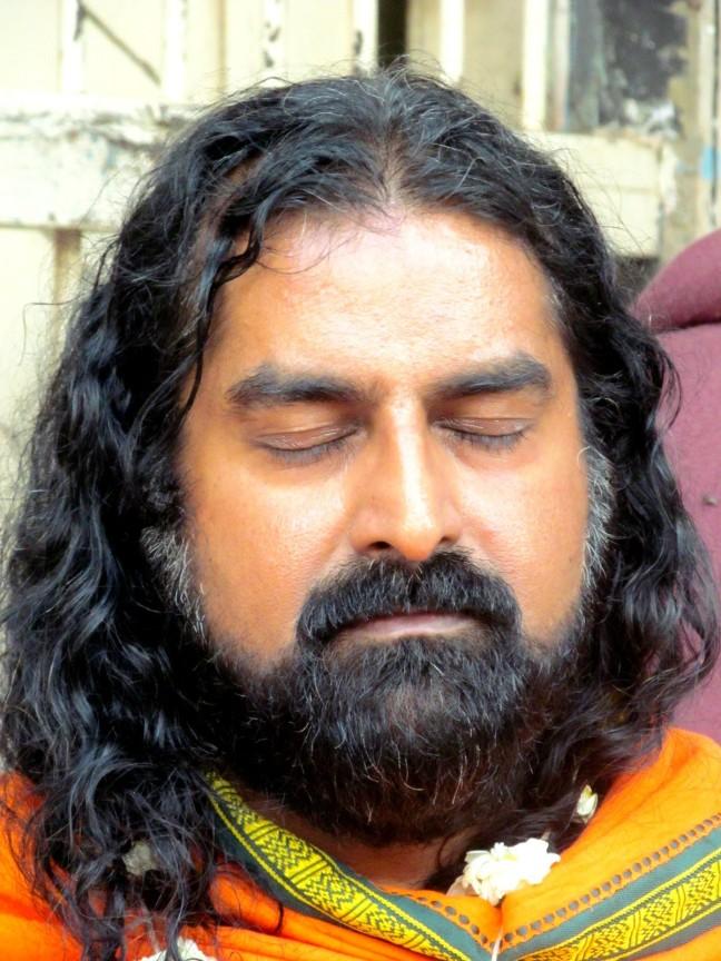 Mohanji meditating