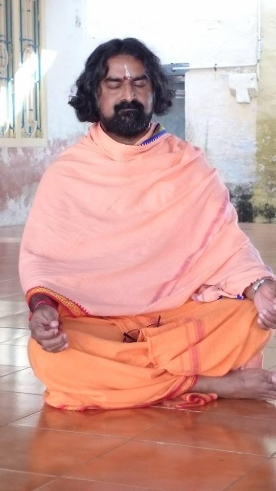 Mohanji meditating. 2