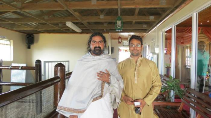 Mohanji with Yashik Singh who maintains Merudanda ashram in Durban