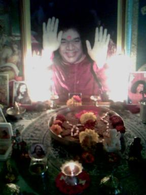 Swami's padukas in our mandir...May Sai bless you always...