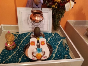 Shree Rudram was chanted while doing abhiskam to this Shiva Linga