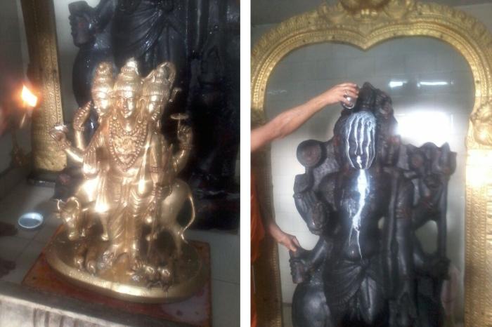 Abhishek of idol of Dattatreya on Mohanji birthday