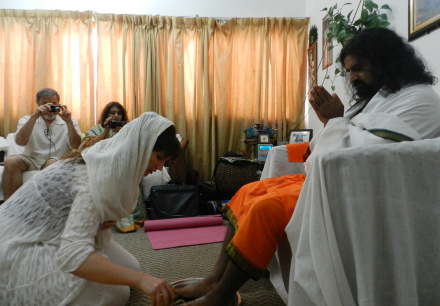 Image 6-Pada Pooja (on Gurupoornima 2011) that ended with Samadhi