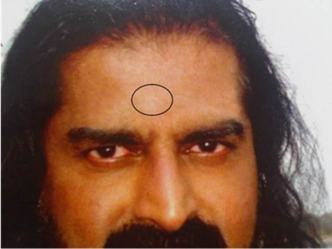 Mohanji - Babaji appearing on his third eye