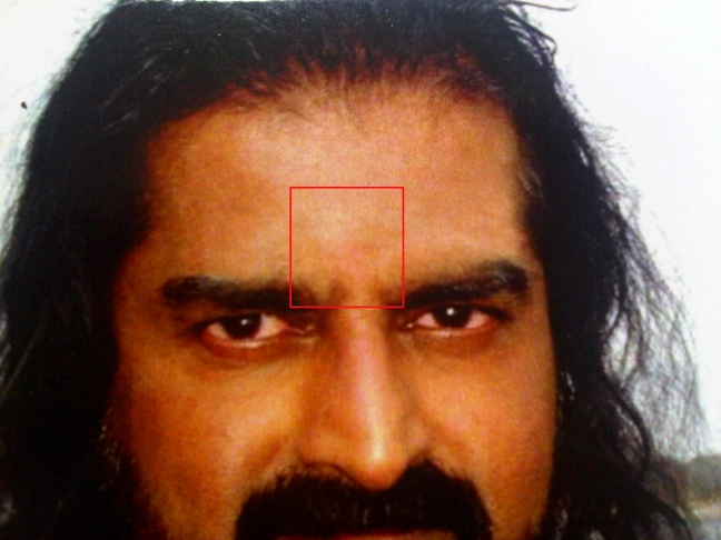 Third Eye on Mohanji's eye card