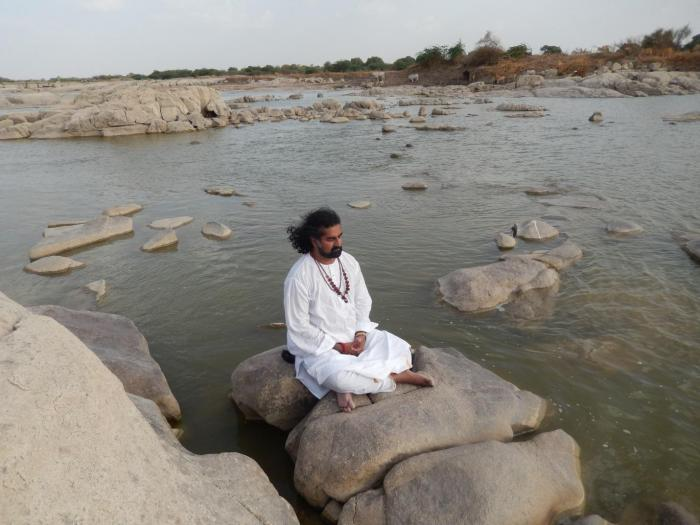 Another picture at the Krishna river