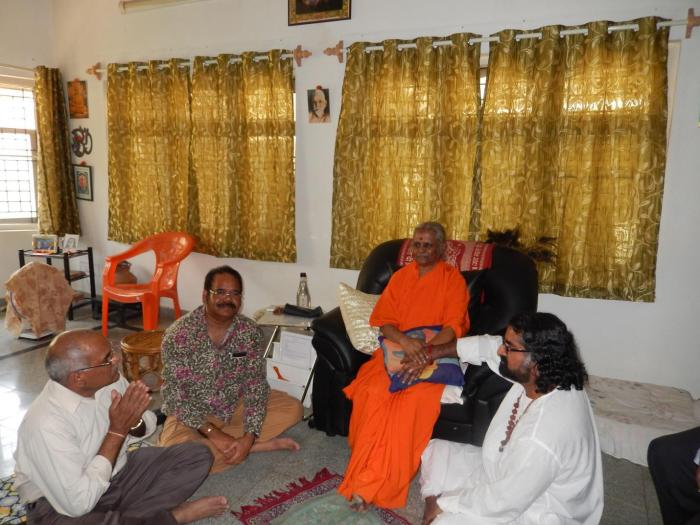 Getting the blessings of Devi Amma