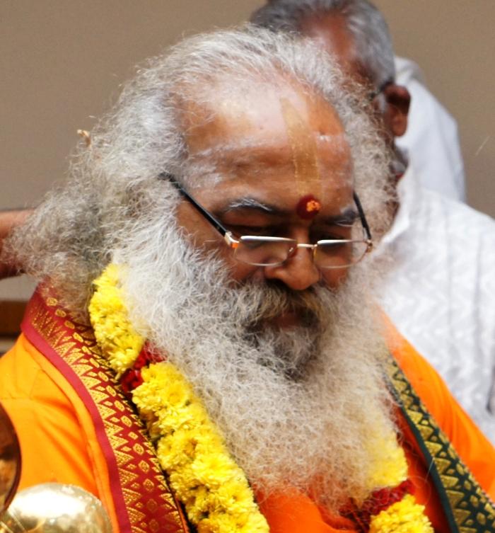 Vittal Babaji at the installation of the Shirdi Sai Baba idol at Palakkad, Kerala