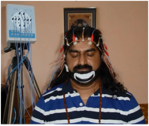 Figure 2: Shows the electrode positioning on Mohanjis head