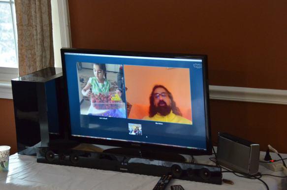 Skype satsang with Mohanji