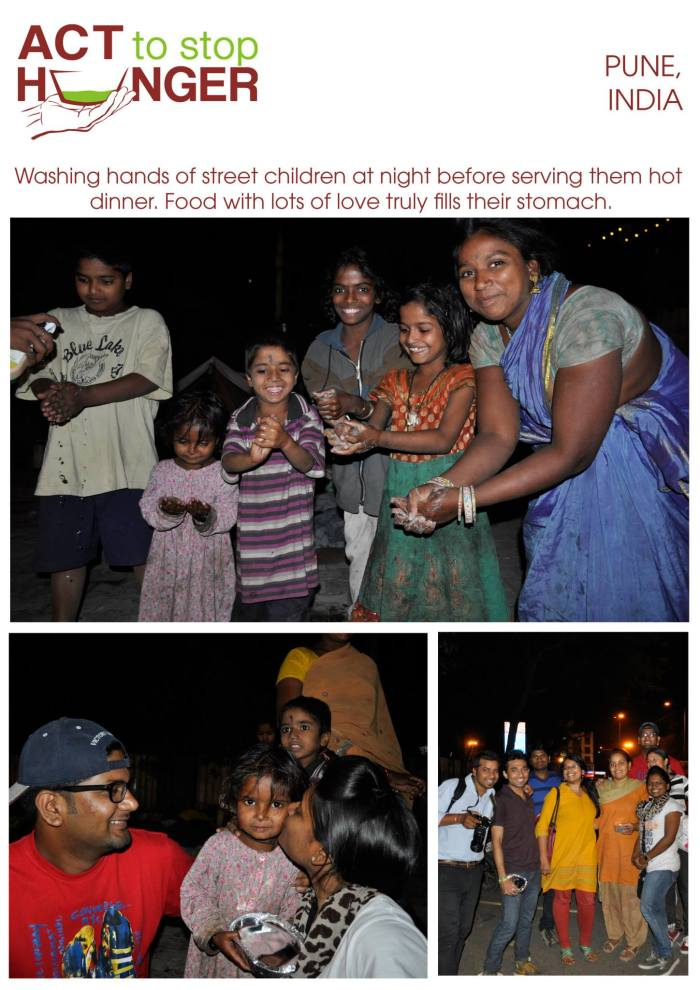 Special moments were celebrated with special people! These kids sleeping on dirty roads and pavements felt so happy after washing them hands, we played with them, gave them sweets, hygiene kits, hot food and shared the love.  Truly.. we don't know who was happier.. them or us smile emoticon  We served over 150 homeless people with hot dinner and around 50 people with hygiene kits.
