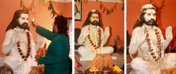 Merudanda ashram - Mohanjis murthi installation