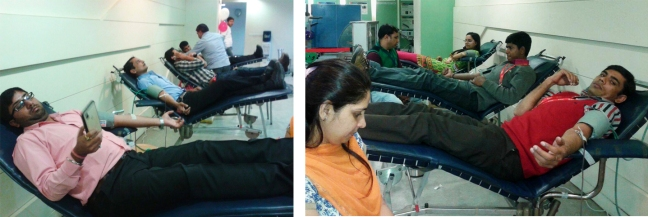 Mohanjis 50th birthday celebration - Blood donation camp Gurgaon 1