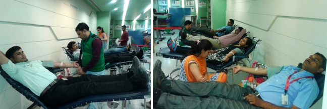 Mohanjis 50th birthday celebration - Blood donation camp Gurgaon 1a