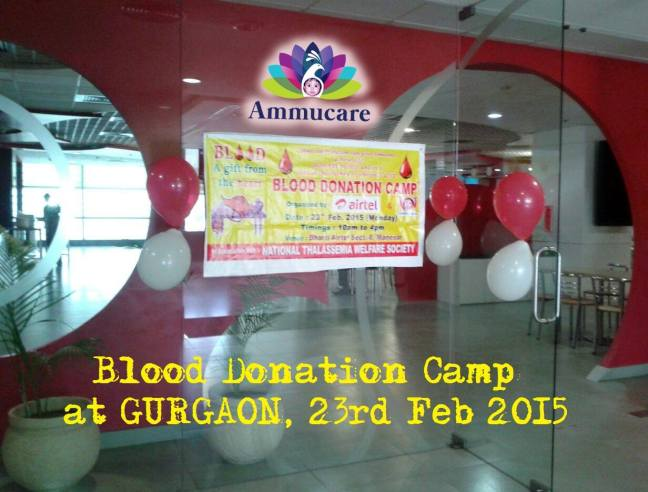 Mohanjis 50th birthday celebration - Blood donation camp Gurgaon