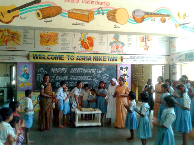 Mohanjis 50th birthday celebration in Karwar, at Asha Niketan School 1