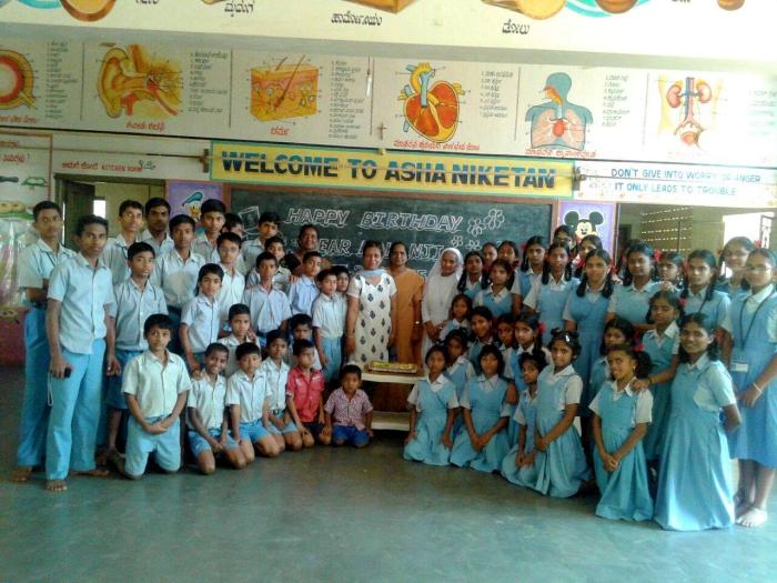 Mohanjis 50th birthday celebration in Karwar, at Asha Niketan School