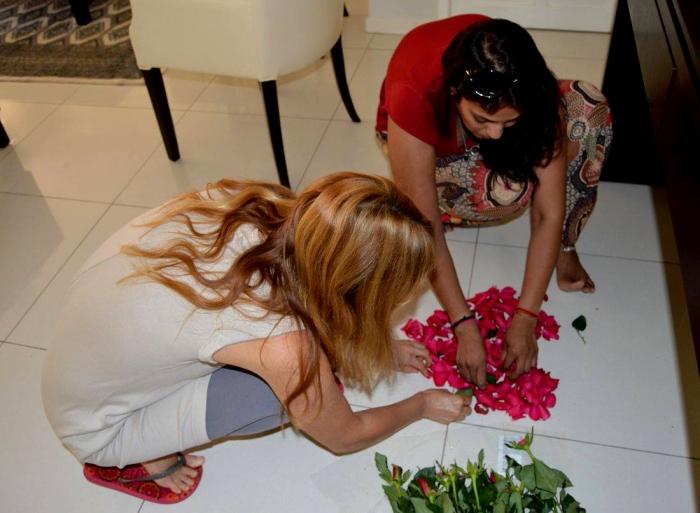 Nameshri Chetti Maharaj and Milica Bulatovic