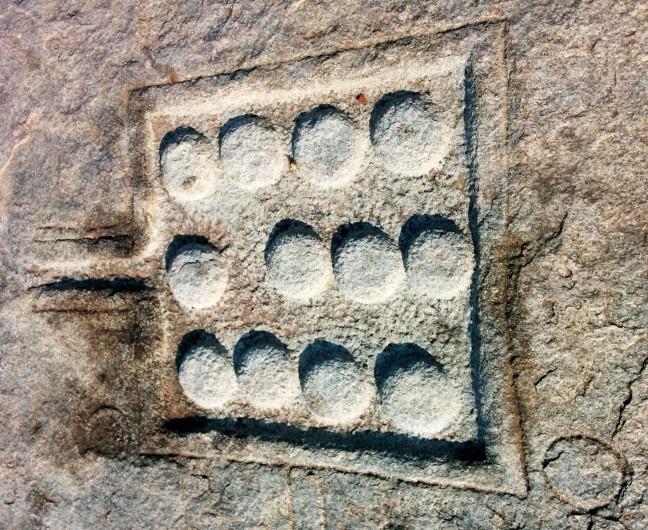 The 12 mini Shiva lingams