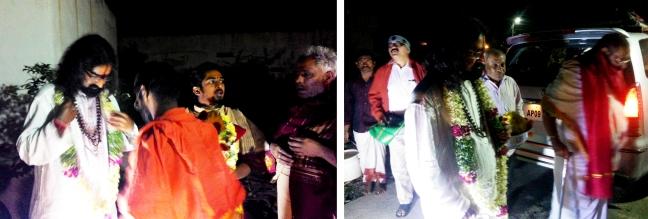 Mohanji and swami Thyagananda at the gates 1,2