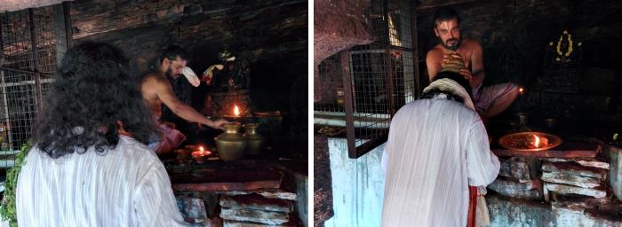 Puja at Jwala Narasimha