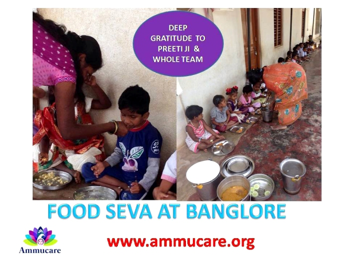 Food seva at Bangalore - Ammucare - Guru Purnima 2015