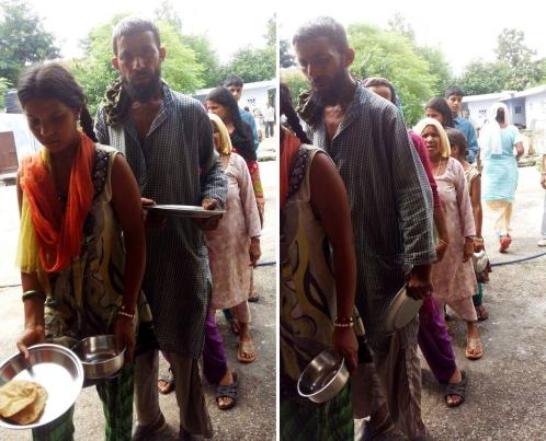 Food seva leprosy home - Jammu - Guru Purnima - Ammucare 1