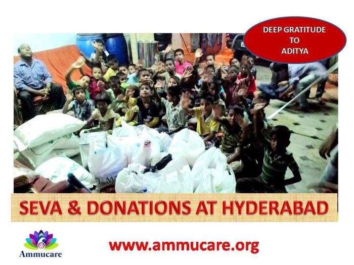 Hyderabad - food seva for boys - Ammucare - Guru Purnima