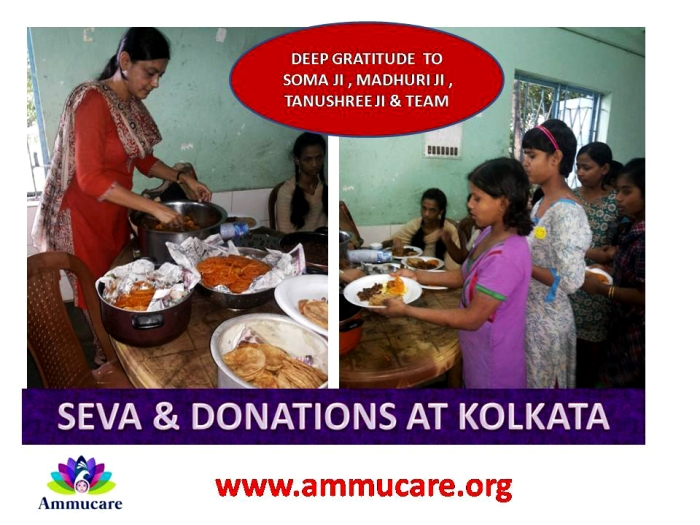 Kolkata - seva and donations - Ammucare 1